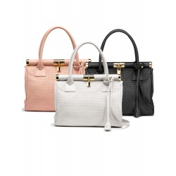 Braided leather bags in stock