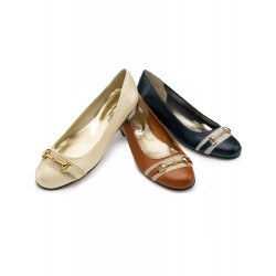 Leather shoes in stock