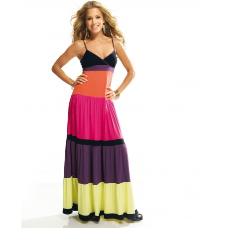 Rainbow Printed Maxi Dress