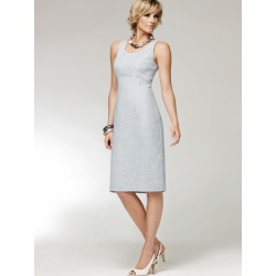 White Crisscross Back Shift Dress