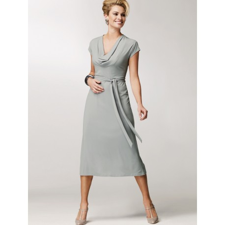 Dark Grey Sheath Dress