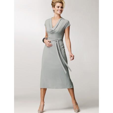 Dark Grey Sheath Dress