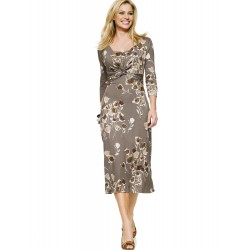 Floral Light Brown Dress