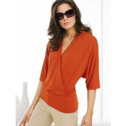 Draped  Top - Orange