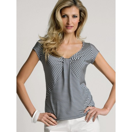 Black And White Stripes  T-shirt