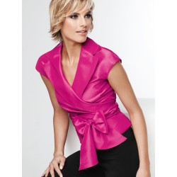 Fuchsia Silk  Sleeveless Blouse