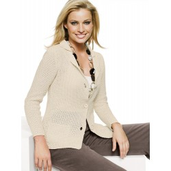 Knitted Beige Jacket