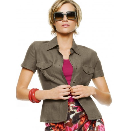 Light Sleeveless Brown Jacket